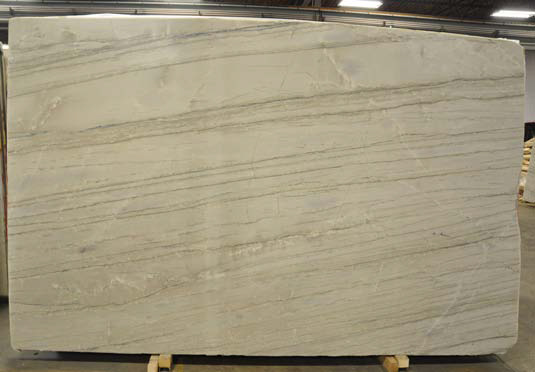 White Macauba Polished natural stone slab