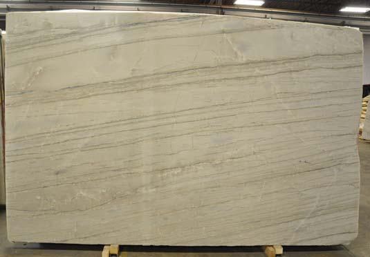 White Macauba Polished natural stone slab