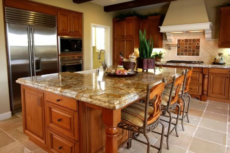 Oak Kitchen Cabinets With Granite Countertops