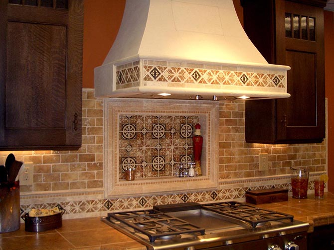 Kitchen backsplash mural