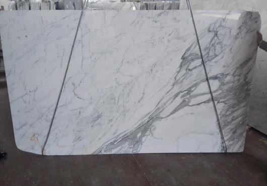 Calacata marble slabs