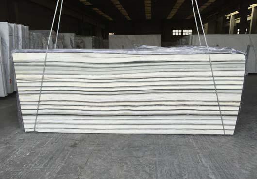 Calacata rigato white marble slab
