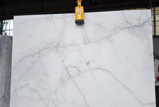 Colorado white marble slab
