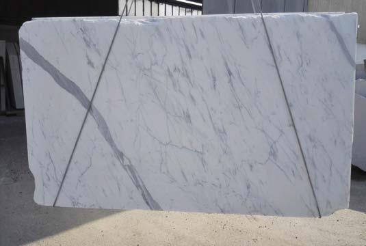 Statuary white marble slab