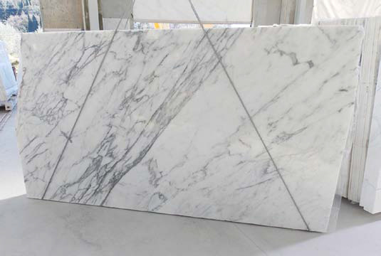 New white marble slabs arriving at MGSI in April