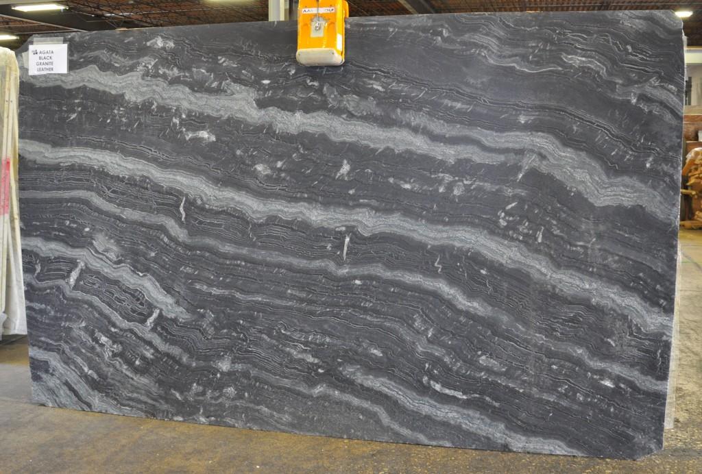 Granite slab - AGATA BLACK LEATHER