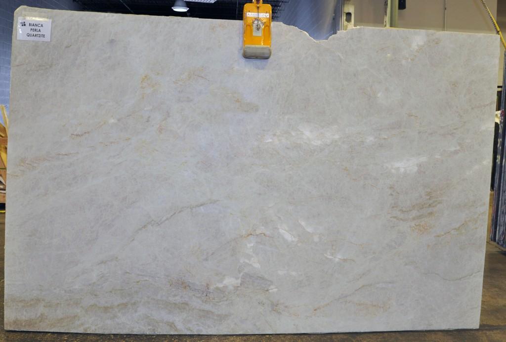 Quartzite slab - Bianca Perla