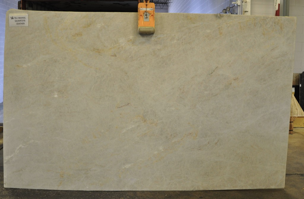 Quartzite slab - taj mahal leather