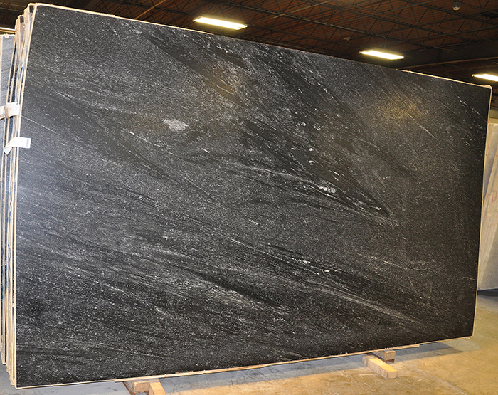 granite slabs - nevada black leather