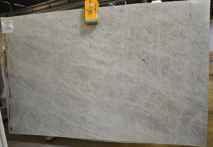 quartzite slab - mother of pearl
