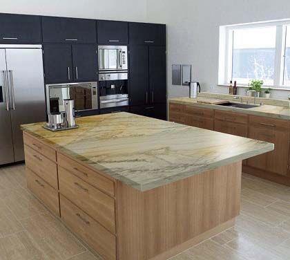 golden macaubas kitchen countertop