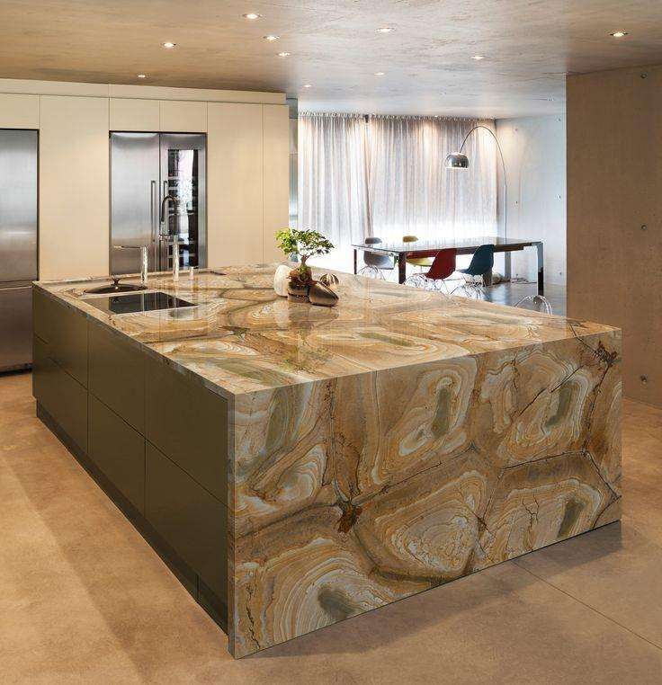 Palomino Quartzite Kitchen Island