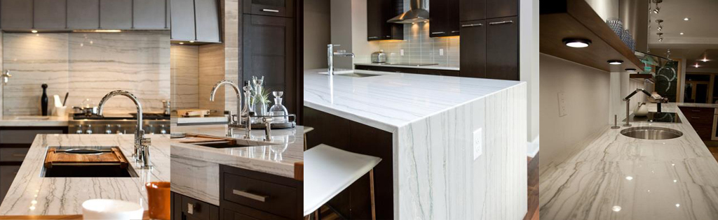 White Macauba Quarztite countertops