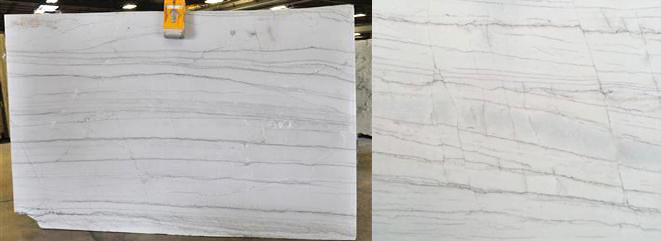 White Macaubas Quarztite slabs