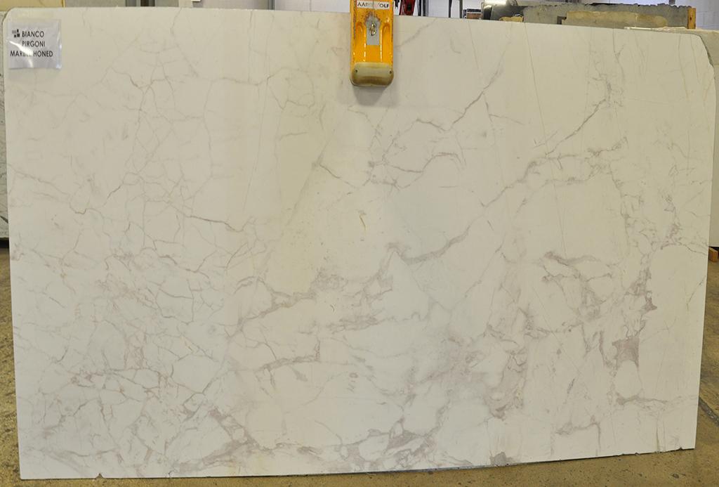 bianco pirgoni marble slab
