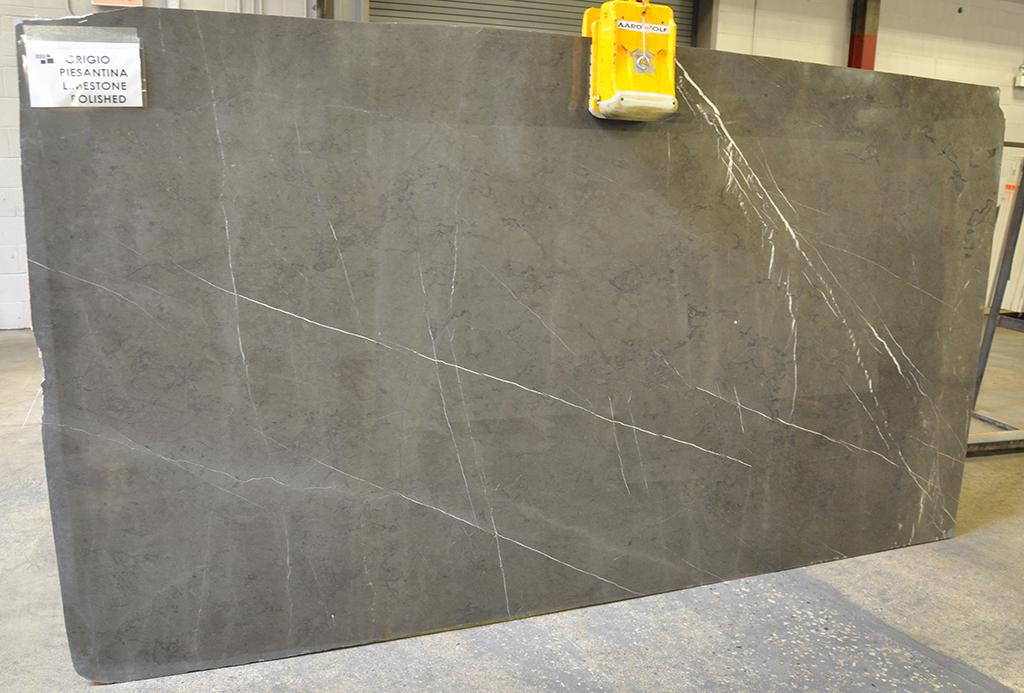 grigio piesantina polished limestone slab