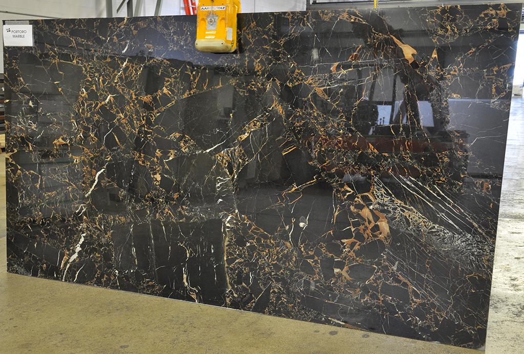 portoro marble slab