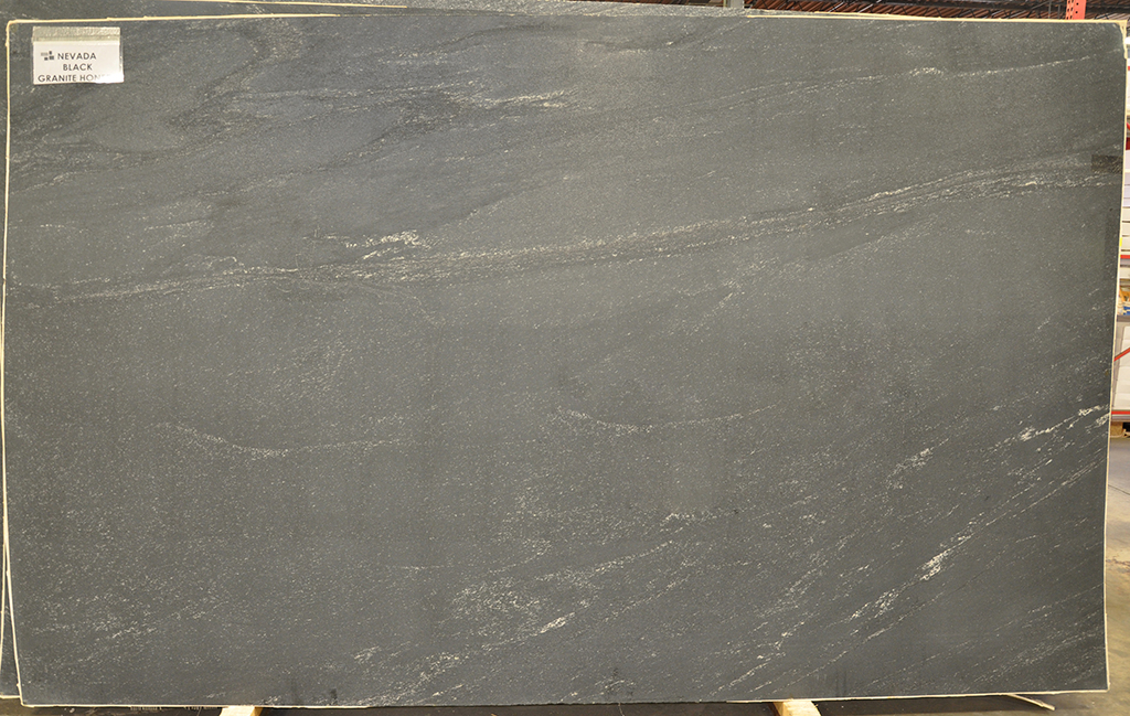 nevada black honed granite slab