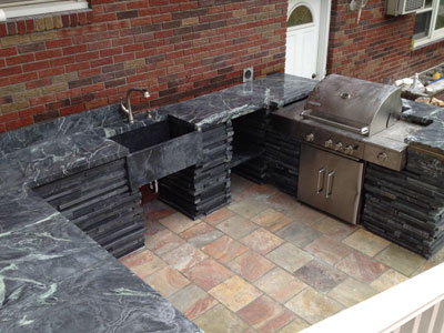 outdoor soapstone countertop