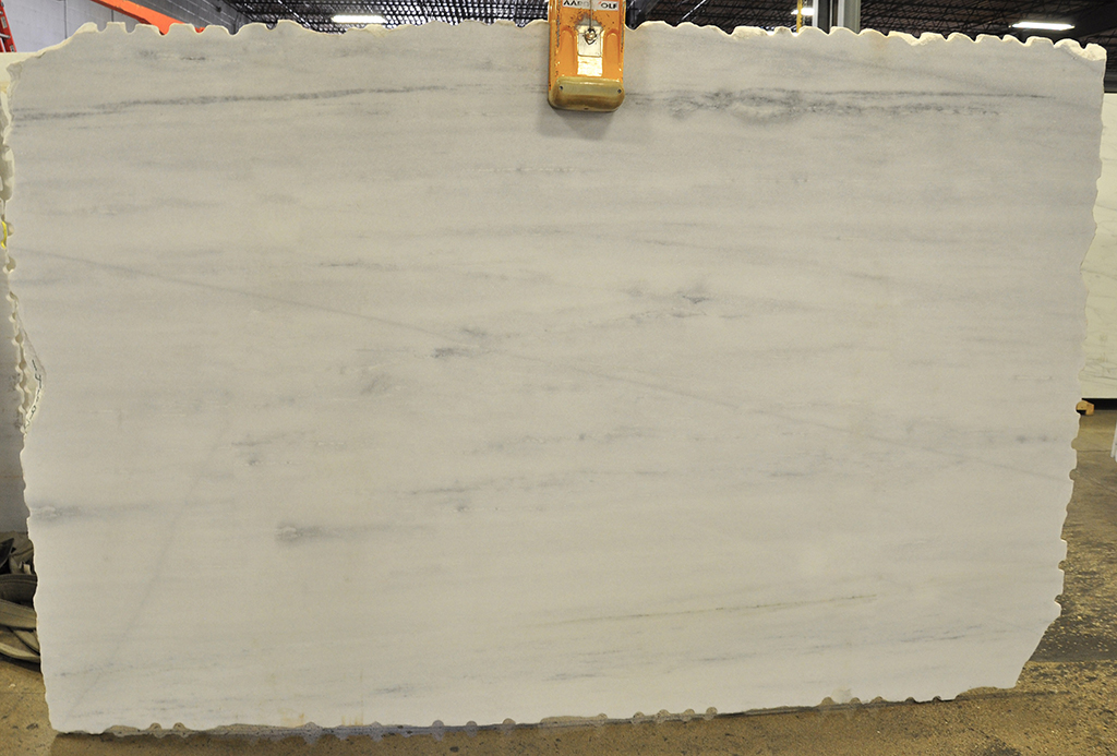 stellar white honed marble