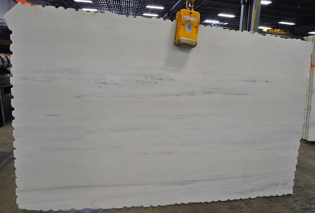 stellar white polished marble