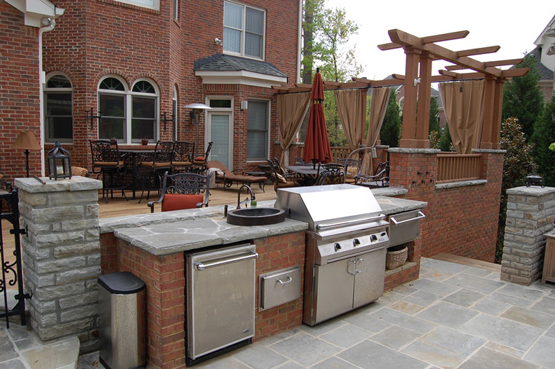 outdoor stone countertop