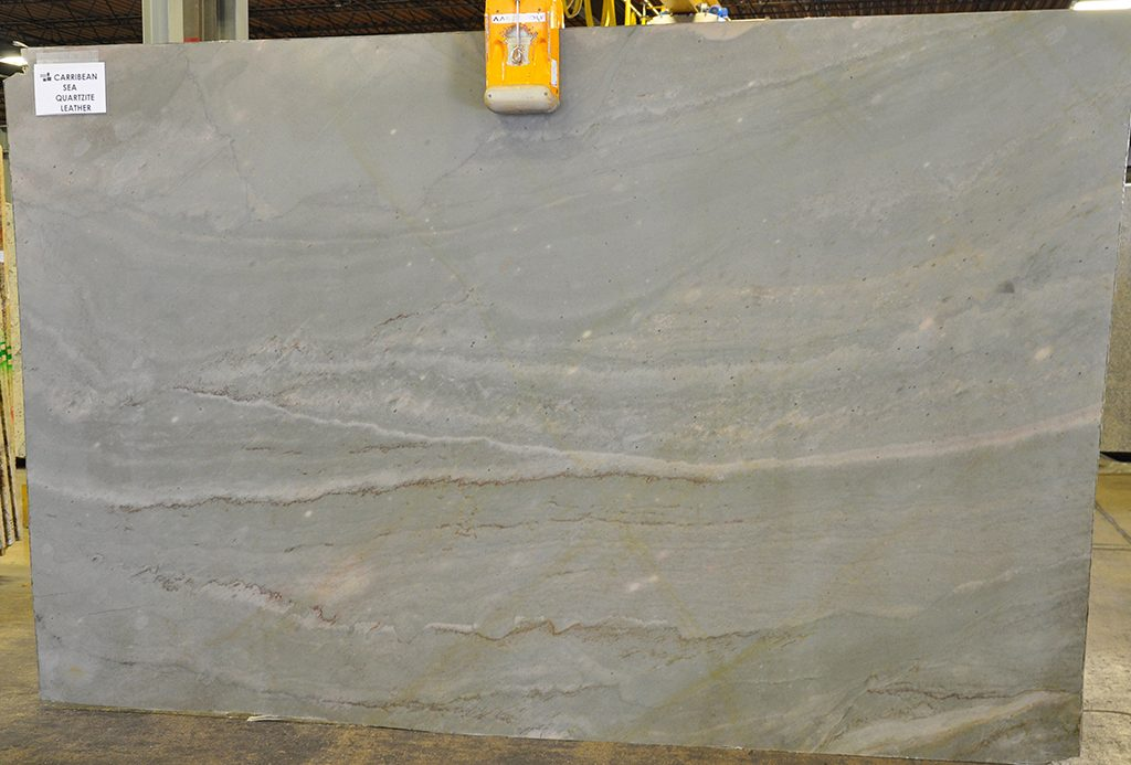 quartzite slabs - carribean sea leather