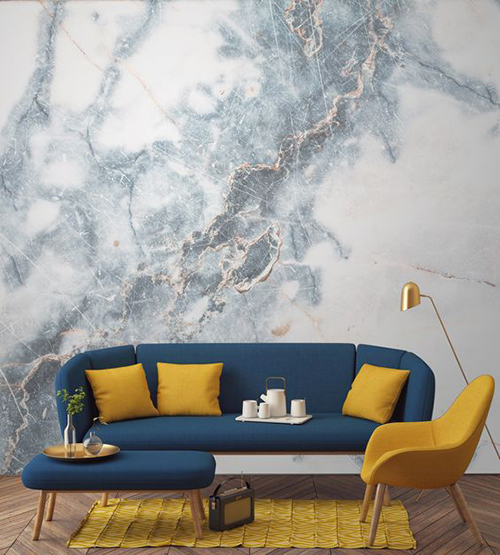 Stone Wall Design - Living Room