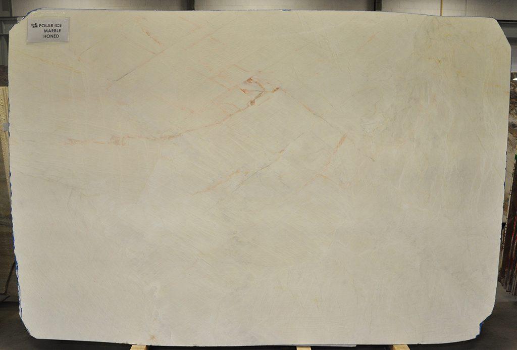 Polar Ice honed marble slab