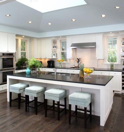 contemporary kitchen - black granite