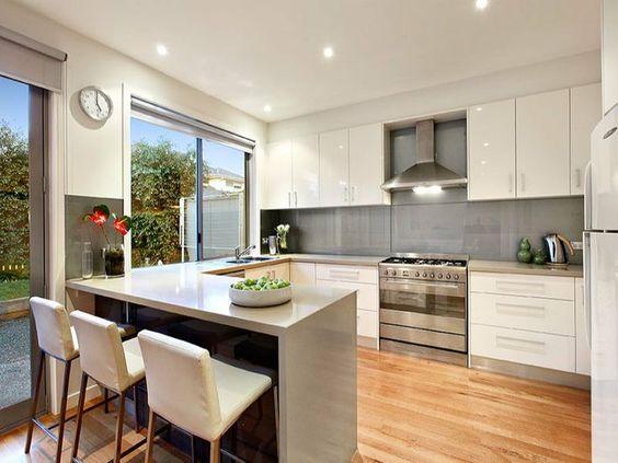 contemporary kitchen - pewter quartz
