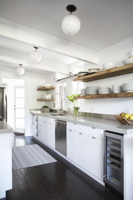 Pewter Quartz - contemporary kitchen
