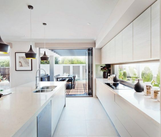 contemporary kitchen - venatino quartz