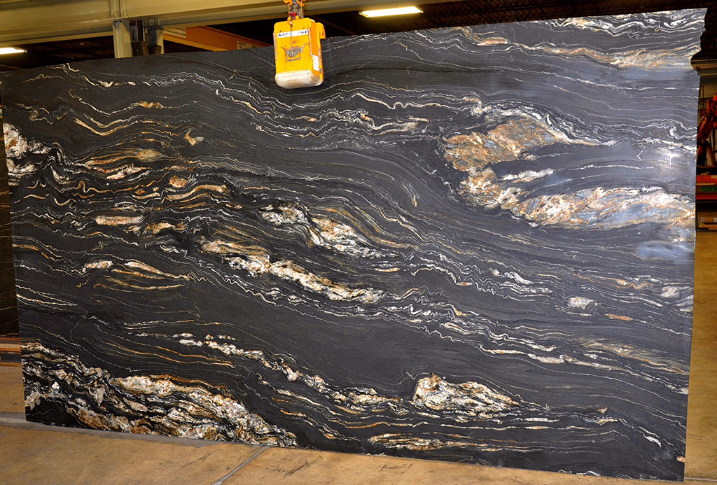 Tropical Storm quartzite slab leather