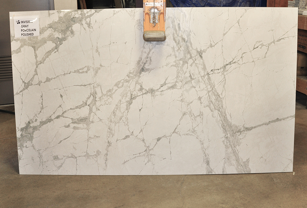 Invisible Grey porcelain slabs