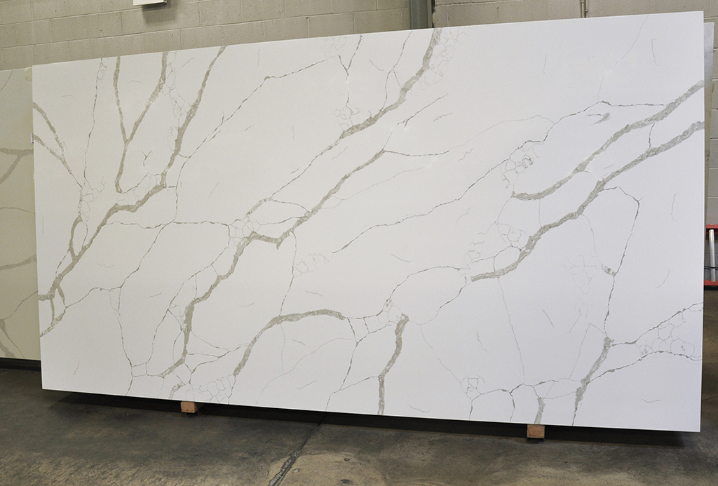 Calacata Nova polished Techno Quartz