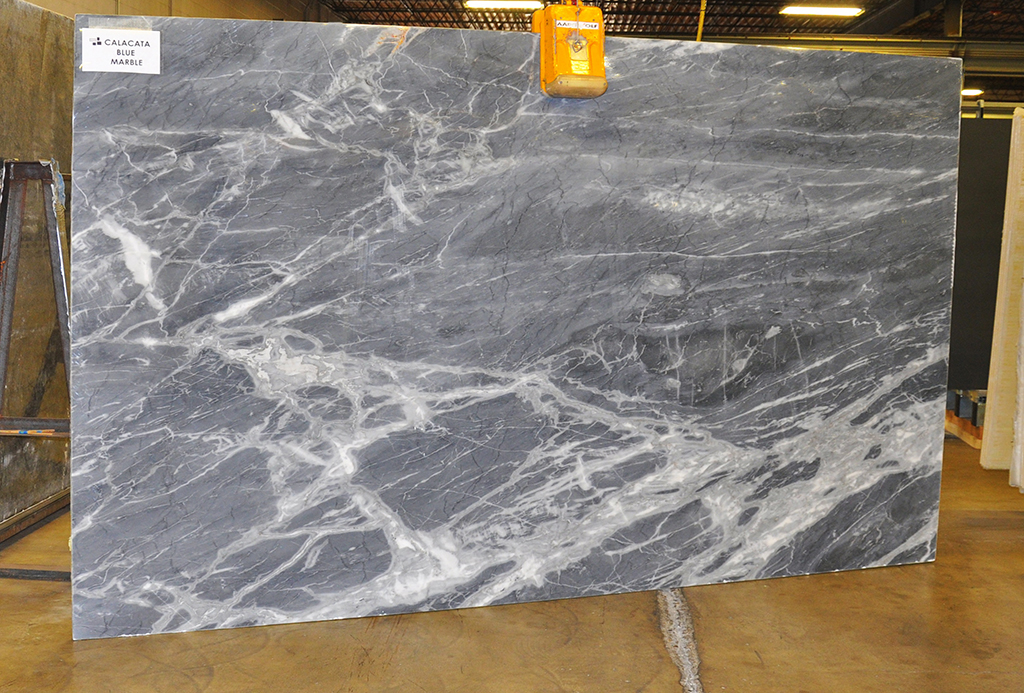 Calacata Blue polished marble