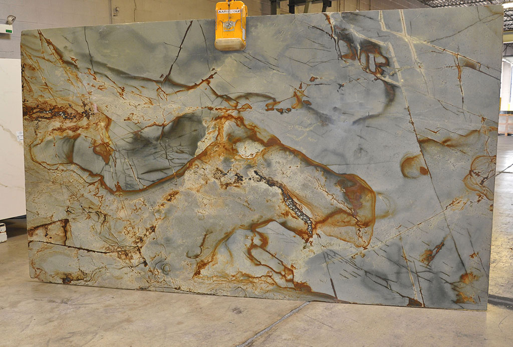 Blue Roma polished quartzite