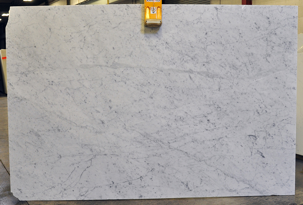 White Carrara honed marble